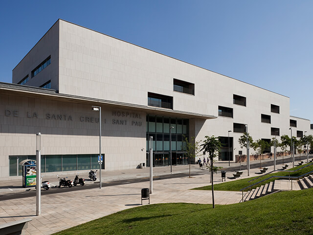 Modern hospital in Barcelona